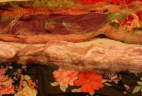 Seasonal Colored Nuno Felted Scarves from Scarving Artists